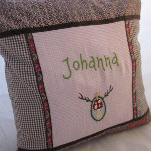 Kissen Johanna (Pilzbutton)