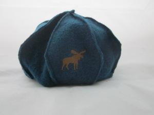 Mütze petrol mit Elch
