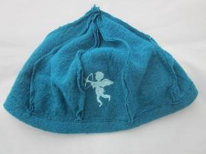 Mütze türkis mit Engel