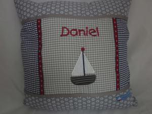 Kissen DANIEL Segelboot