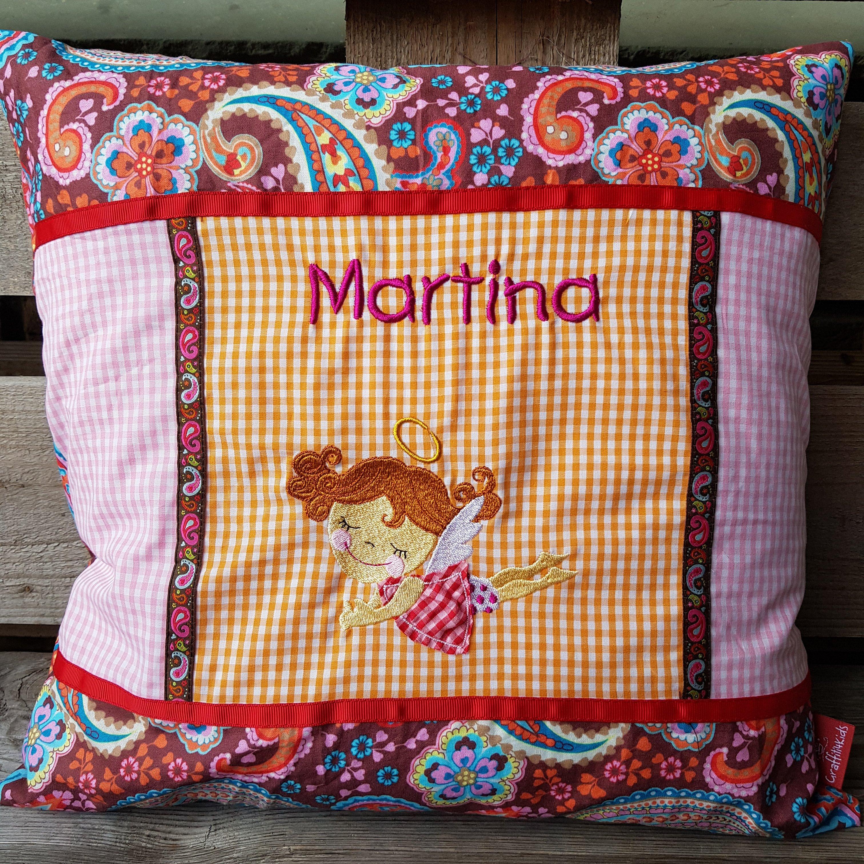Kissen MARTINA (Glockenengel (Punkt Punkt Komma Strich)