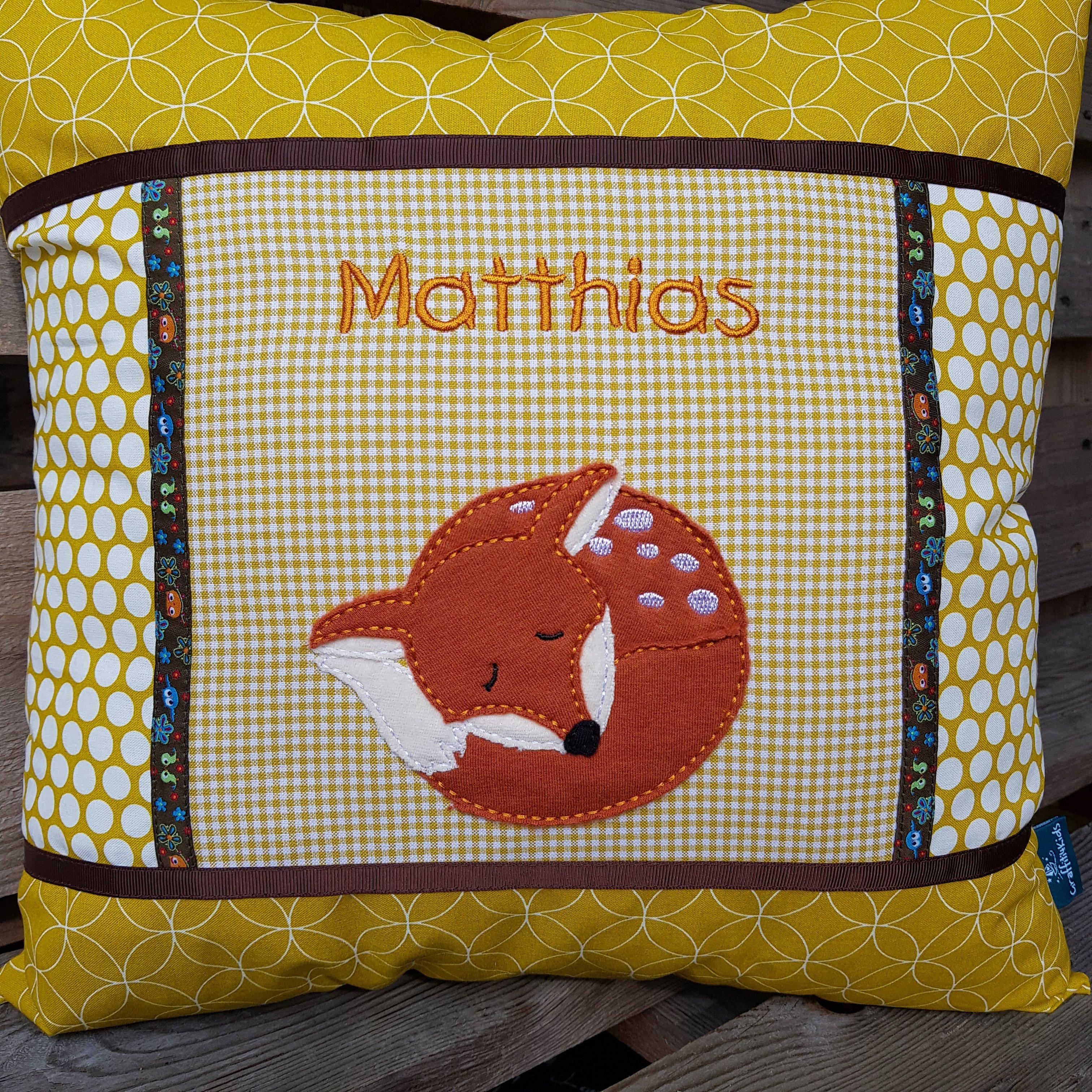 Kissen MATTHIAS (Woody von Steinbeck/Kunterbuntdesign)