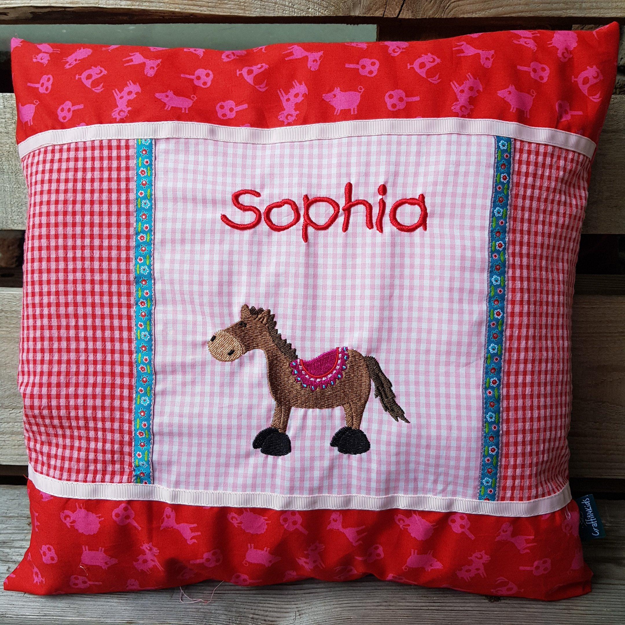 Kissen SOPHIA Pferd (Kunterbuntdesign/Black Sheep Company)